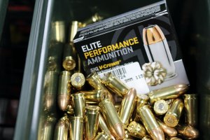 Family Armory & Indoor Range: Ammunition for sale on retail floor.
