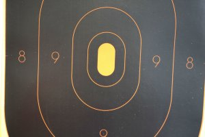 Family Armory & Indoor Range: Targets for sale on retail floor.
