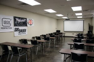 Family Armory Classroom Back Right Corner to Front View