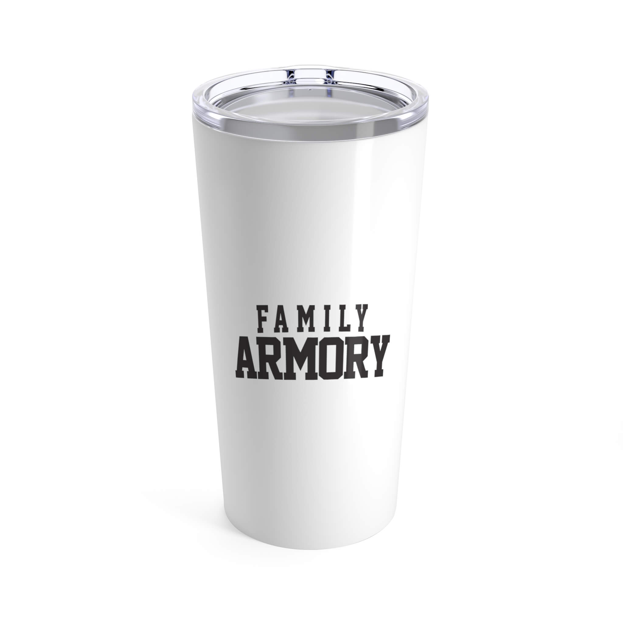 Family Armory Content Supporter Tumbler White