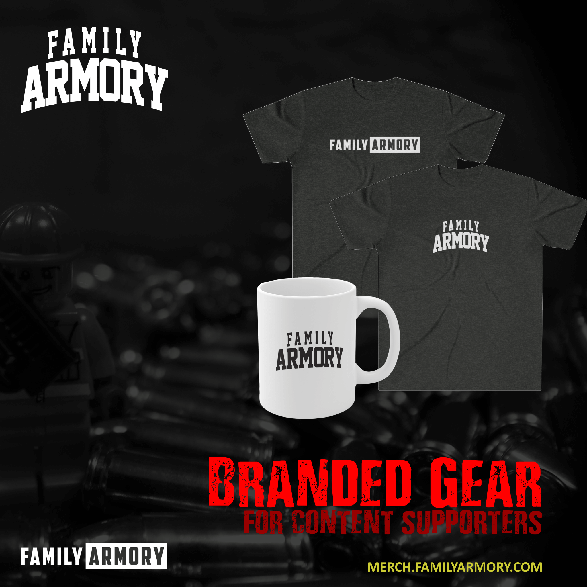 FAMILY ARMORY MIDLAND-ODESSA TEXAS GUN RANGE CONTENT SUPPORTER TSHIRT AND COFFEE MUG