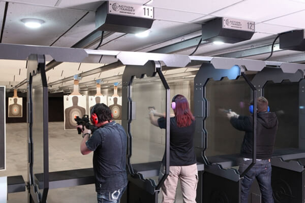 Guns Pointing Downrange Texas Indoor Gunrange