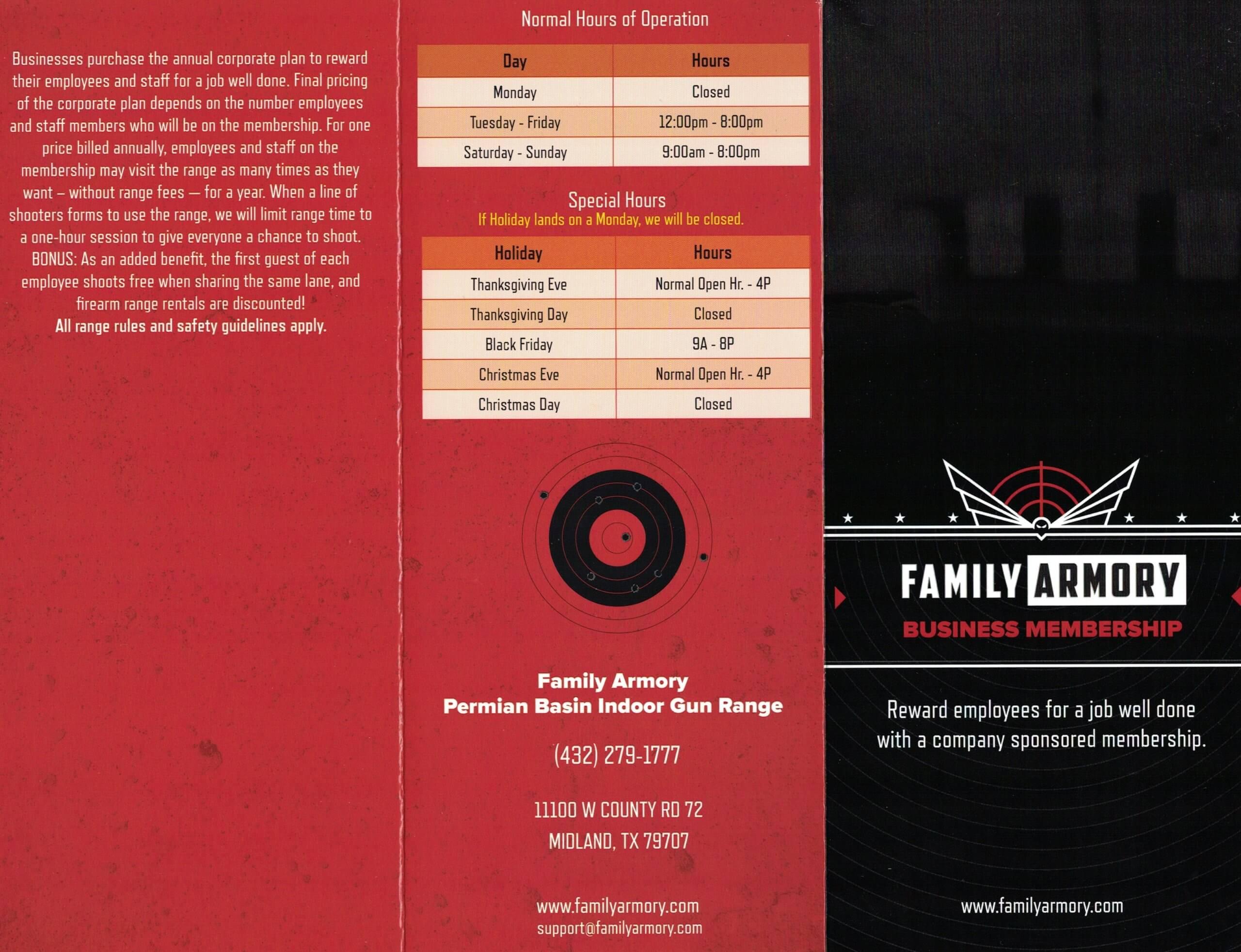 Family Armory Corporate Membership Brochure Exterior